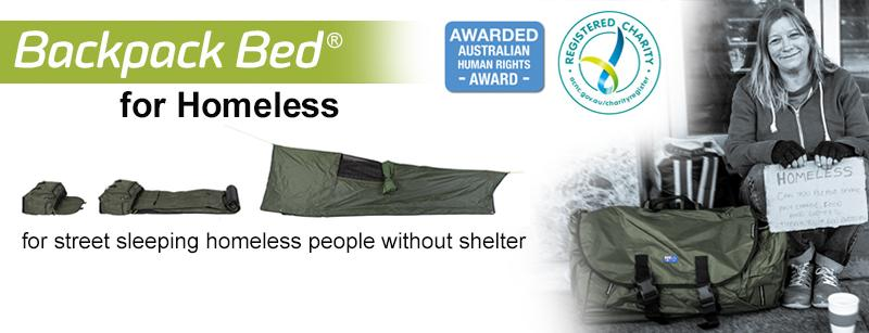 Swags for Homeless Ltd trading as Backpack Bed for Homeless bd1d7824a9089